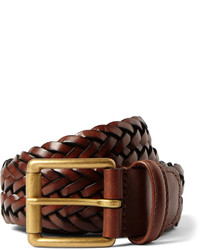 Andersons Andersons 35cm Brown Woven Leather Belt