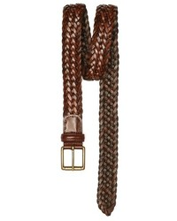 Andersons woven leather belt medium 220024