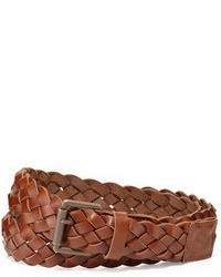 Ami Braided Leather Belt Brown