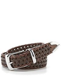 Roundtree & Yorke Braided Leather Belt
