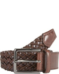 Barneys New York Elasticized Woven Belt Brown Size 30