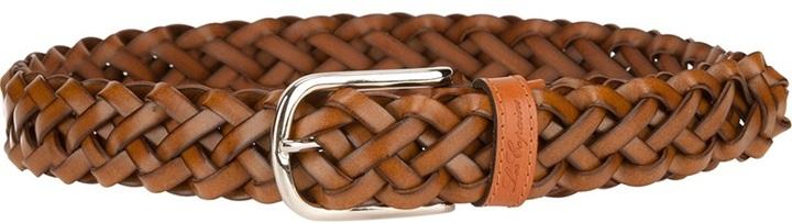 Les Copains Woven Leather Belt