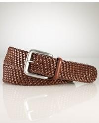 Ralph Lauren Polo Accessories Savannah Braided Leather Belt