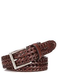 Roundtree & Yorke V Braided Leather Belt