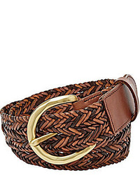 Fossil Woven Convertible Leather Belt