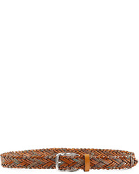 Etro Woven Leather And Cotton Belt