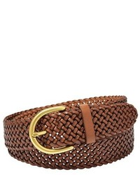 Woven leather belt medium 132864