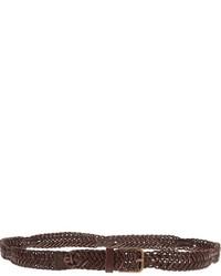 Woven leather belt medium 1356959