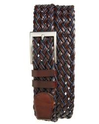 Woven leather belt medium 3768201