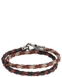 Tod's Tods Braided Leather Wrap Bracelet