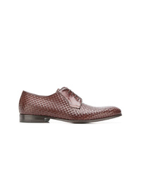 Canali Woven Derby Shoes