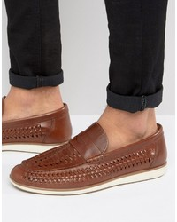 cc72c03564c9d Men's Brown Woven Loafers from Asos   Men's Fashion   Lookastic.com