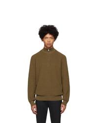 BOSS Brown Pro Half Zip Sweater