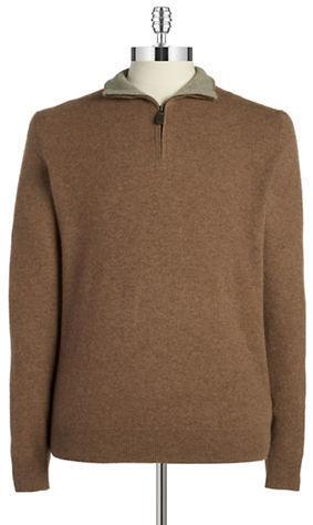 Cashmere Quarter Zip Knit Pullover