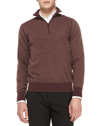 Loro Piana Cashmere Roadster Half Zip Sweater