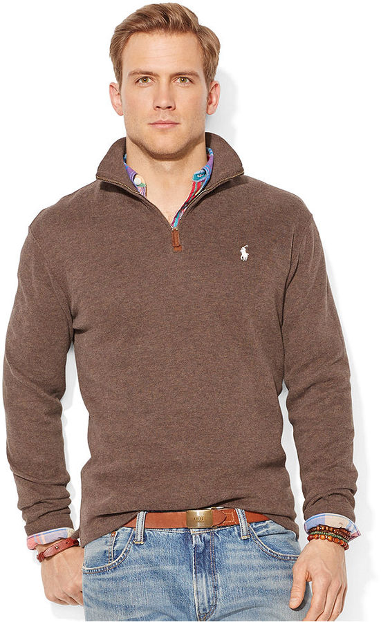 Polo Ralph Lauren French Rib Half Zip Pullover Sweater | Where to ...