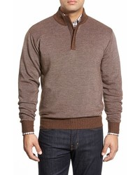 Quarter zip merino wool sweater medium 361107