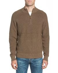 Nordstrom Men's Shop Ribbed Quarter Zip Sweater