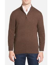 Shop regular fit cashmere quarter zip pullover medium 361172