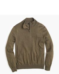 J.Crew Tall Merino Wool Half Zip Sweater