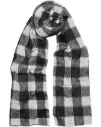 Bufanda a cuadros en blanco y negro de Balenciaga