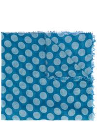 Bufanda a lunares azul de Faliero Sarti