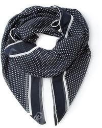 Bufanda a lunares en negro y blanco de Agnona