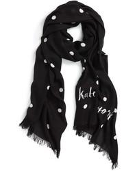 Bufanda a lunares en negro y blanco de Kate Spade