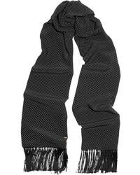 Bufanda a lunares en negro y blanco de Saint Laurent
