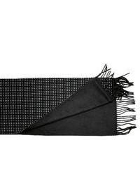 Bufanda a lunares negra