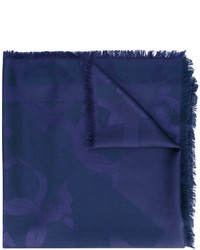 Bufanda Azul Marino de Salvatore Ferragamo