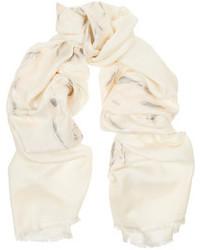 Bufanda blanca de Alexander McQueen