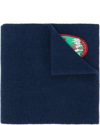 Bufanda bordada azul marino de DSQUARED2