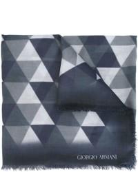 Bufanda con estampado geométrico Azul Marino de Giorgio Armani