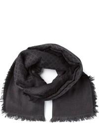 Bufanda con estampado geométrico en gris oscuro de Gucci