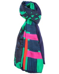 Bufanda con estampado geométrico en multicolor de Pierre Louis Mascia