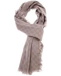 Bufanda con estampado geométrico gris de Gucci