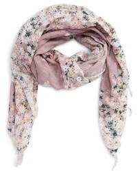 Bufanda con print de flores Violeta Claro de Hinge