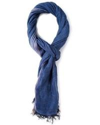 Bufanda de algodón azul marino