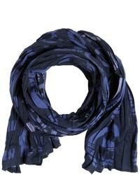 Bufanda de algodón azul marino de HUGO BOSS