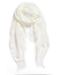 Bufanda de algodón blanca de Halogen