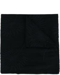 Bufanda de algodón bordada negra de Ann Demeulemeester