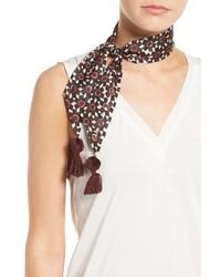 Bufanda de algodón con print de flores negra de Kate Spade