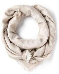 Bufanda de algodón en beige de Alexander McQueen