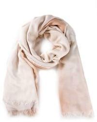 Bufanda de algodón en beige de Stella McCartney
