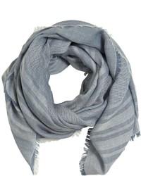 Bufanda de algodón estampada celeste de Fendi