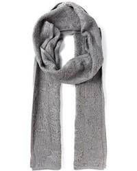 Bufanda de algodón gris de Alexander Wang