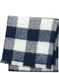 Bufanda de cuadro vichy en azul marino y blanco