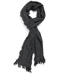Bufanda de espiguilla en gris oscuro de John Varvatos