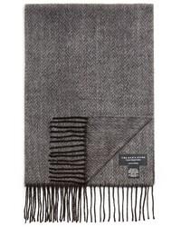 Bufanda de espiguilla gris